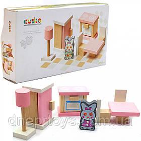 Деревянный игрушечный набор Cubika «Мебель 3» (13975)