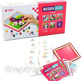 Детский деревянный конструктор Волшебство (Wooden Pixel) Cubika (Кубика) 250 элементов (14880)