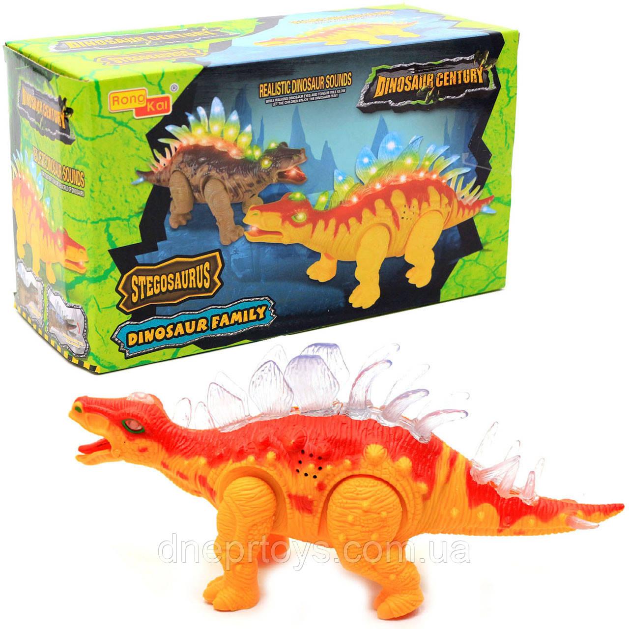 Игрушечный Динозавр Rong Kai, ходит, световые и звуковые эффекты, 35 см (6638-1)