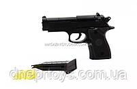 Игрушечный пистолет ZM21 с пульками . Детское оружие с металлическим корпусом с дальностью стельбы 15-20м, фото 5