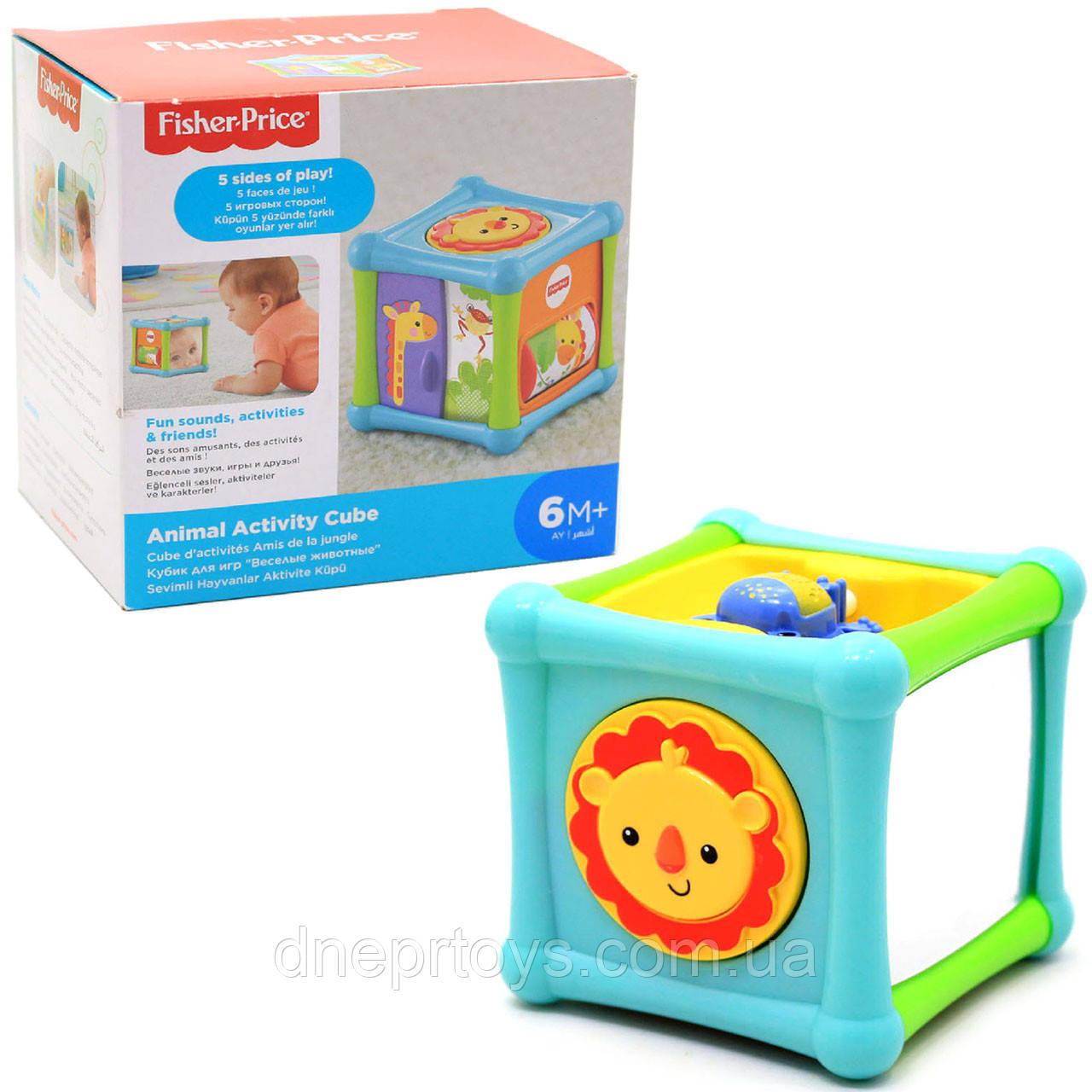 Розвиваюча іграшка Fisher Price «Ігровий кубик з тваринами», 12х12х11 см (BFH80)