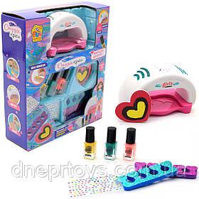 Набір для манікюру дитячий FUN GAME «Студія краси» дитяча косметика (сушка для нігтів, лак, декор) 95965