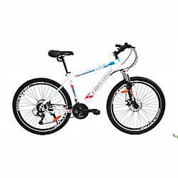 """Велосипед CROSSRIDE SPIDER 26 """"рама 17"""" Чорно / Синій / гірський велосипед / Кроссрайд на сталевій рамі"""
