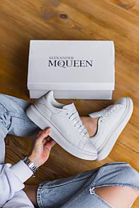 Мужские кроссовки Alexander McQueen White 43
