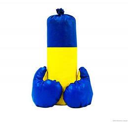 """Мешок боксерский детский с перчатками """"Ukraine"""" маленький, 40 см"""
