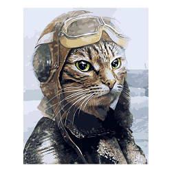 """Картина по номерам """"Кот лётчик"""" ★★★ VA-2575"""