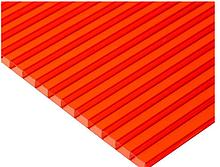 Сотовый поликарбонат ТМ Oscar 6мм красный 2100х6000мм