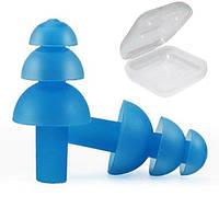 Беруші для плавання, захист від шуму для дітей і підлітків Silenta EP-15S Blue, фото 1