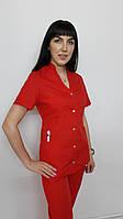 Топ жіночий медичний від костюма Тая бавовна короткий рукав