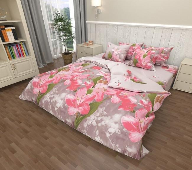Комплект постельного белья Амариллис  Бязь  GOLD 100% хлопок Розового цвета
