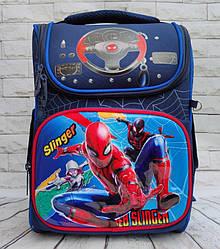 Школьный каркасный ортопедический рюкзак ранец портфель для мальчиков 1 2 3 4 5 класса Человек Паук