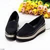 Эластичные черные текстильные полу спортивные женские туфли мокасины 37-23,5 38-24 см, фото 10
