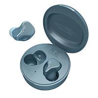 Беспроводные Bluetooth наушники KZ SKS с гибридными излучателями (Синий)