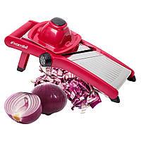 Многофункциональная красная шинковка-измельчитель для овощей Kamille 38*17*13см