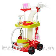 Дитячий ігровий набір для прибирання 667-34-36 візок з аксесуарами (Салатовий)