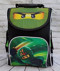 Школьный каркасный ортопедический рюкзак ранец портфель для мальчиков 1 2 3 4 5 класса Лего Ниндзяго