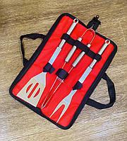 Набор для барбекю и гриля из 3-х предметов, сумка-чехол