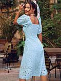 Сукня-кльош з прошвы з рукавами-ліхтариками ЛІТО, фото 3