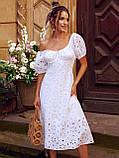 Сукня-кльош з прошвы з рукавами-ліхтариками ЛІТО, фото 8