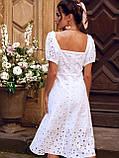 Сукня-кльош з прошвы з рукавами-ліхтариками ЛІТО, фото 9