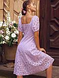 Сукня-кльош з прошвы з рукавами-ліхтариками ЛІТО, фото 7
