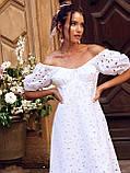 Сукня-кльош з прошвы з рукавами-ліхтариками ЛІТО, фото 10