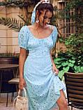 Сукня-кльош з прошвы з рукавами-ліхтариками ЛІТО, фото 2