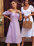 Сукня-кльош з прошвы з рукавами-ліхтариками ЛІТО, фото 6