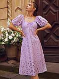 Сукня-кльош з прошвы з рукавами-ліхтариками ЛІТО, фото 5