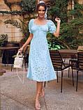 Сукня-кльош з прошвы з рукавами-ліхтариками ЛІТО, фото 4
