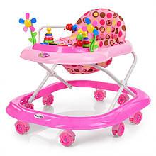 Дитячі ходунки з ігровим центром M 3619 музичний (Рожевий)