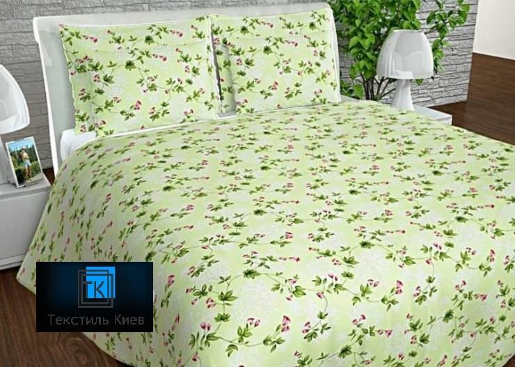 Постільна білизна бязь Двоспальний комплект 175х215 см з Лебідями