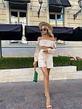 Літній костюм жіночий з блузою і шортами коттон, фото 6