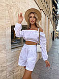 Літній костюм жіночий з блузою і шортами коттон, фото 2
