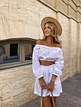 Літній костюм жіночий з блузою і шортами коттон, фото 3