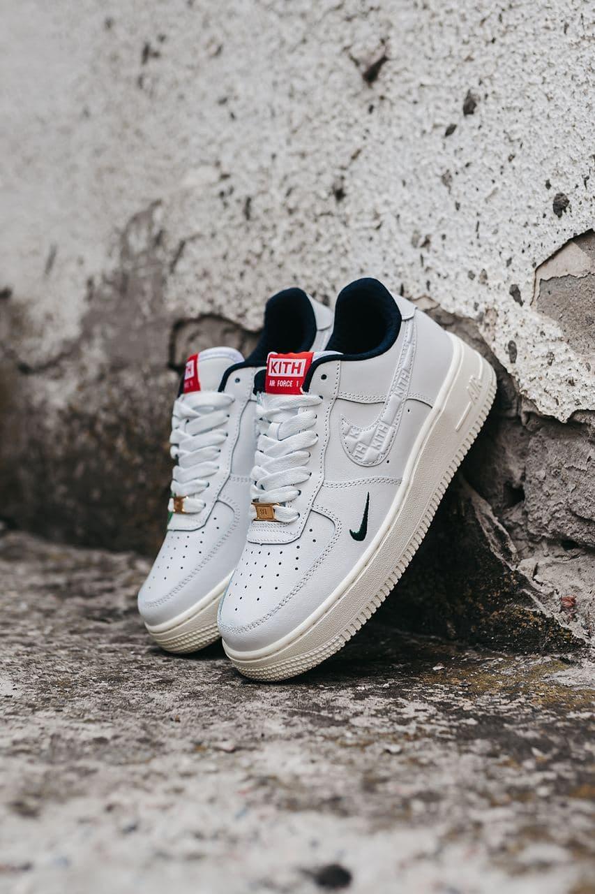 Жіночі білі Кросівки Nike Force Kith x Nike Air Force 1