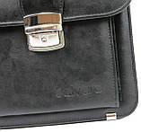Портфель чоловічий з еко шкіри Salvare N01A1 чорний, фото 10