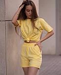Літній костюм жіночий двійка з шортами, фото 3