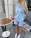Літній костюм жіночий двійка з шортами, фото 4