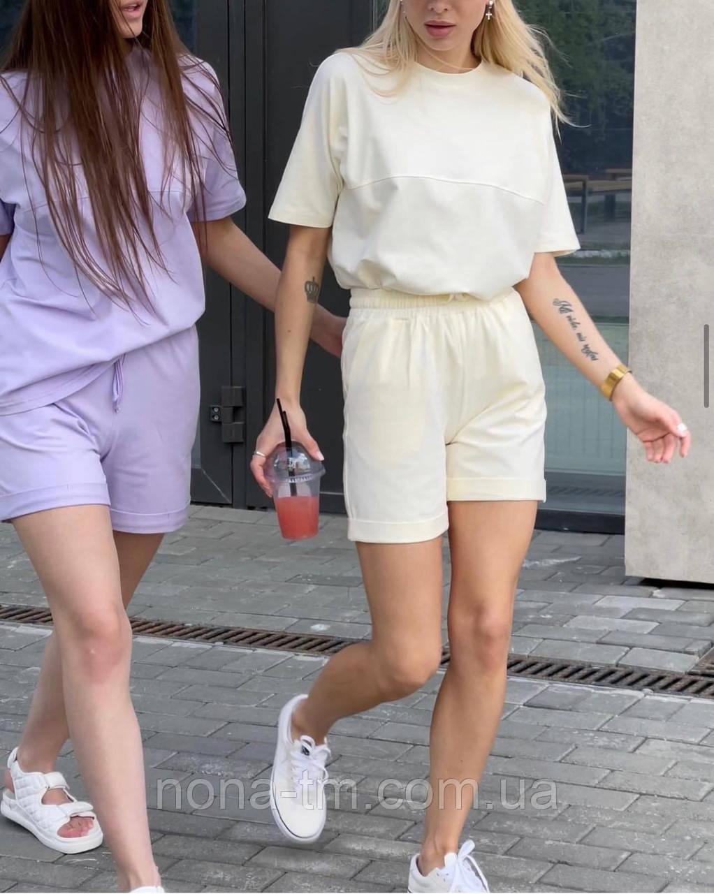 Літній костюм жіночий двійка з шортами