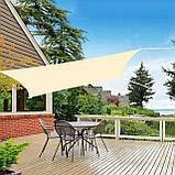 Тент-парус теневой для дома, сада и туризма Springos 5 x 5 м SN1020 Light Yellow, фото 2