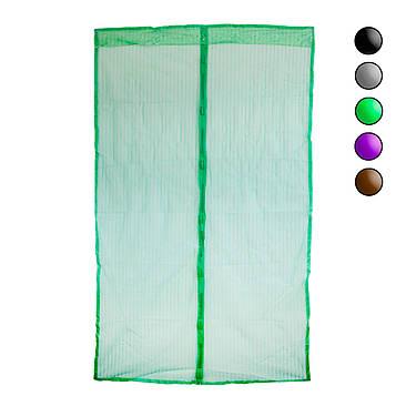 Антимоскітна сітка на магнітах Зелена однотонна 120х208см, москітна сітка-штора (антимоскітна сітка) (ST)