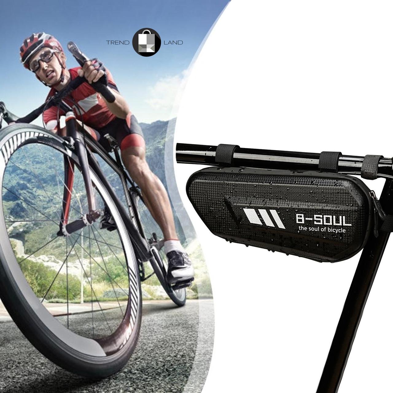 Велосипедная водонепроницаемая треугольная сумка под раму B-SOUL