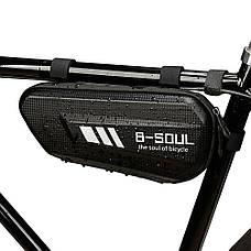 Велосипедная водонепроницаемая треугольная сумка под раму B-SOUL, фото 2