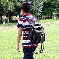 2 в 1   Раскладной стул-рюкзак с термосумкой для рыбалки, пикника, кемпинга или пляжа, фото 2