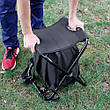 2 в 1   Раскладной стул-рюкзак с термосумкой для рыбалки, пикника, кемпинга или пляжа, фото 4