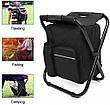 2 в 1   Раскладной стул-рюкзак с термосумкой для рыбалки, пикника, кемпинга или пляжа, фото 5
