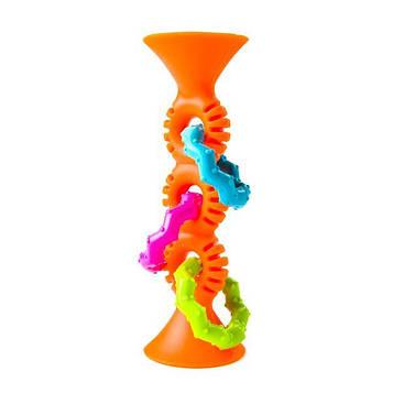 Прорізувач-брязкальце на присосках Fat Brain Toys pipSquigz Loops помаранчевий (F165ML)
