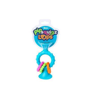 Прорізувач-брязкальце на присосках Fat Brain Toys pipSquigz Loops бірюзовий (F166ML)