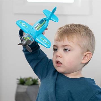 Іграшковий літак Крутись пропелер Fat Brain Toys Playviator блакитний (F2262ML)